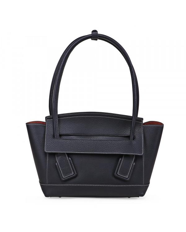 Черная сумка-тоут из искусственной кожи
