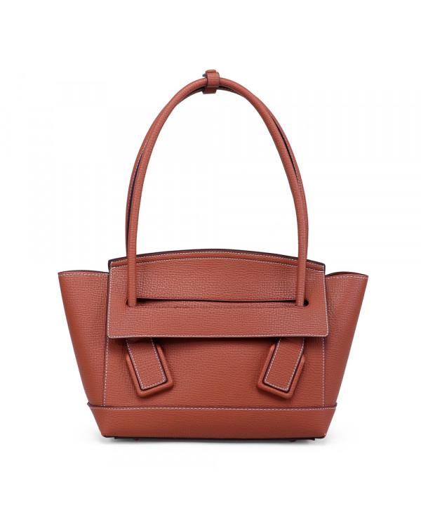 Рыжая сумка-тоут из экокожи