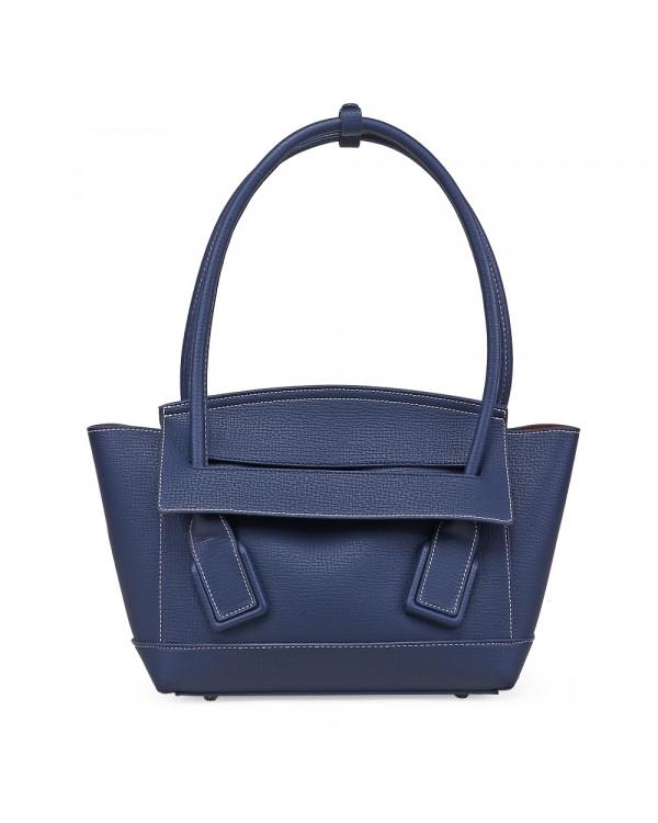 Синяя сумка-тоут из экокожи