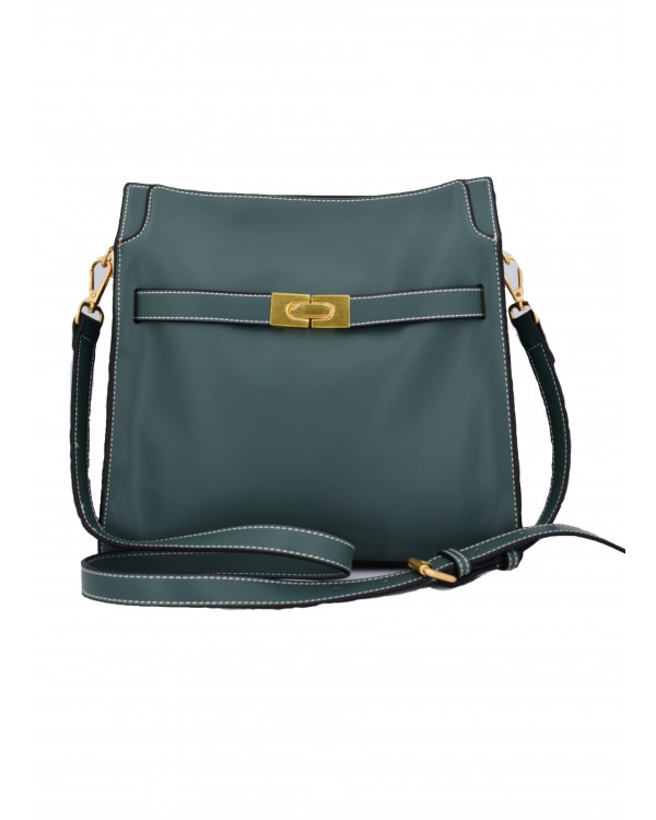 Зеленая сумка-тоут из экокожи